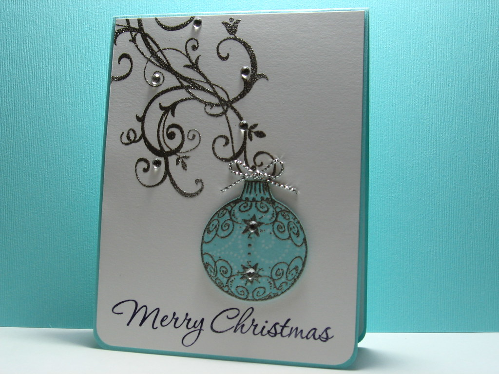 Elegant christmas love this color for christmas cards for Elegant homemade christmas cards