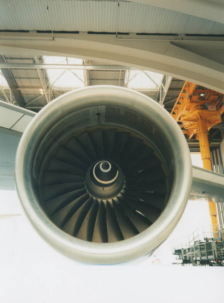 British Airways  747 G-CIVN Engine
