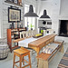 Lunda Gard / Aja and Christian Lund {gray and white eclectic rustic vintage modern dining room}