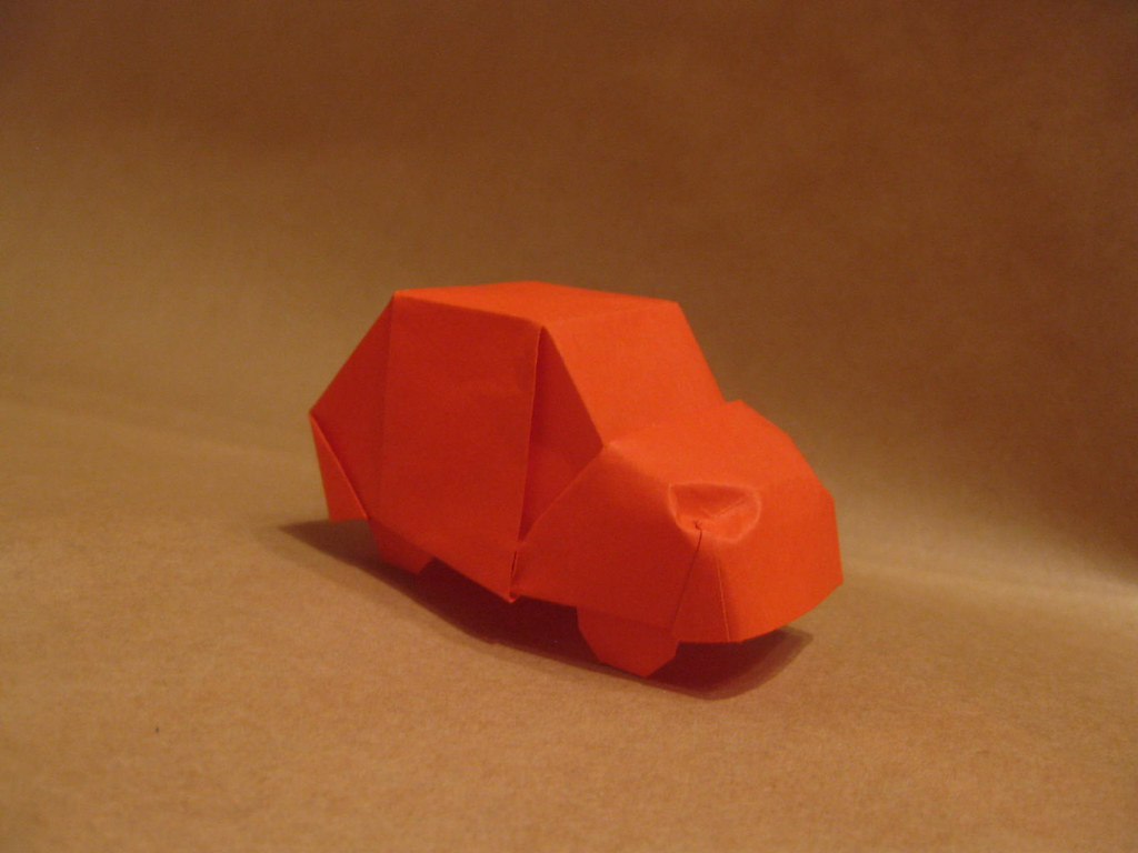 Origami Car Designed And Folded By Mindaugas Cesnavicius