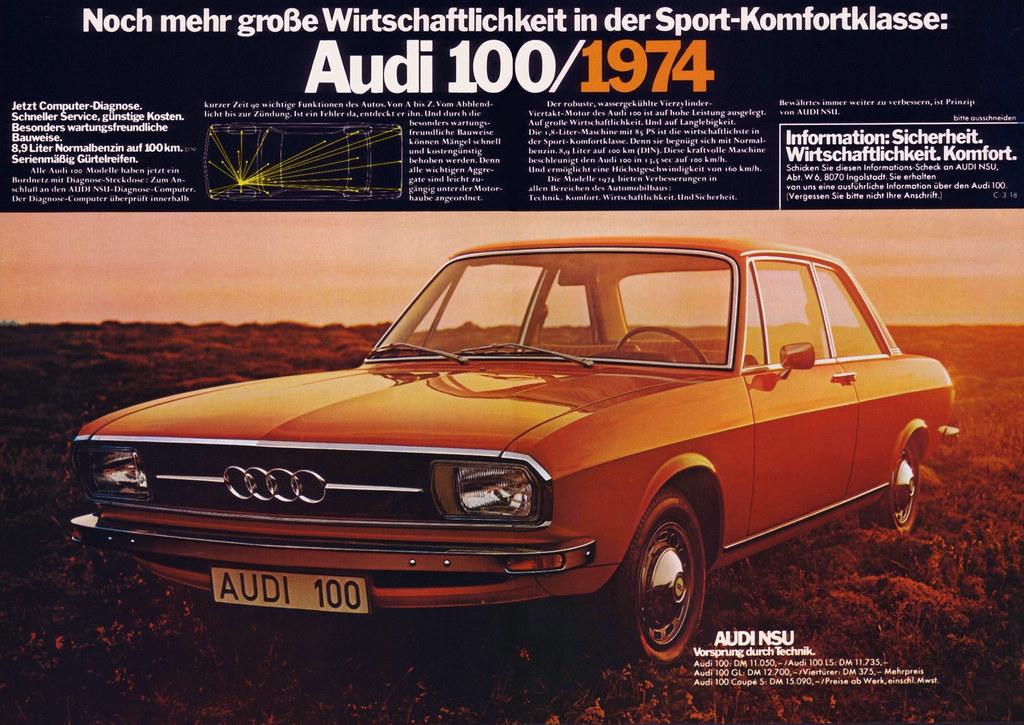 Audi 100 C1 1974 Wirtschaftlichkeit Noch Mehr Gro 223 E