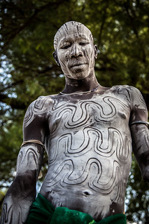 portrait of the mursi tribe man with the body painting | by anthony pappone photography