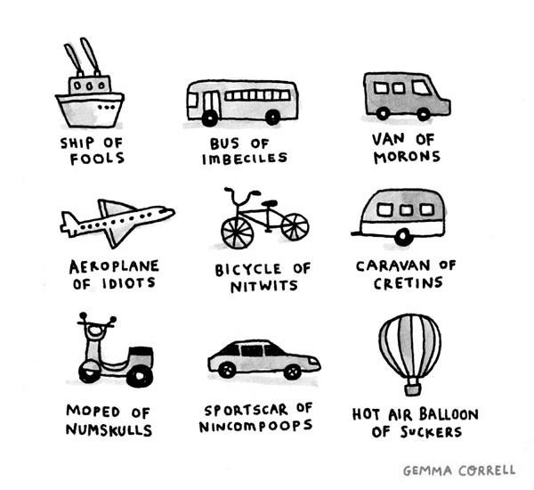 Foolish Transportation Methods Gemma Correll Flickr