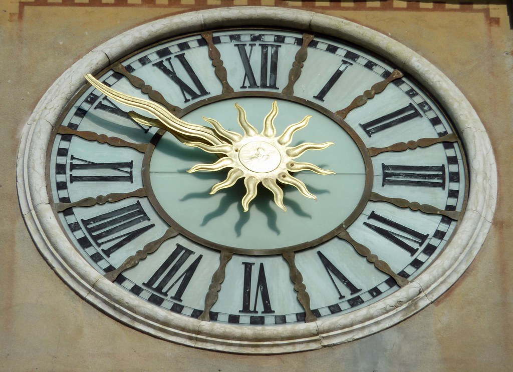 ... Cool Looking Clock On The Side Of A Building In Marostica | By Alaskan  Dude