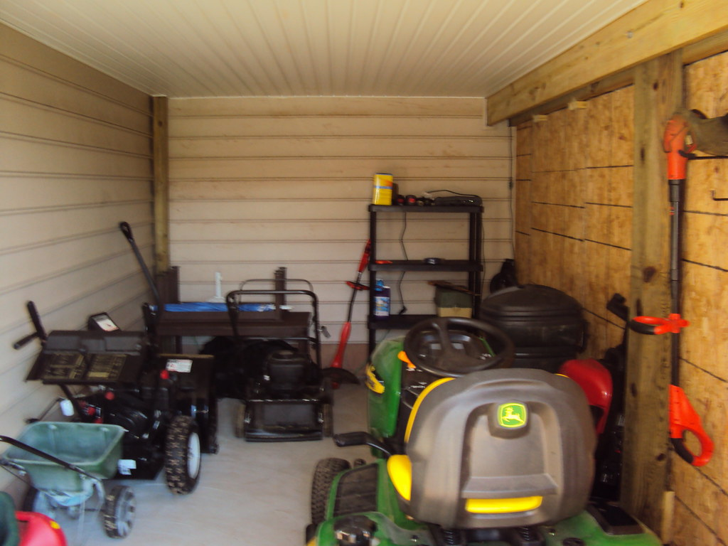 Underdeck storage shed not too exciting of a picture for Garage under deck