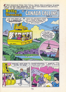"Archie All Canadian Digest #1, August 1996 - page 79, first page of ""Canada Calling"" 