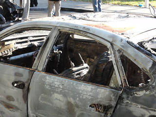 Burned out car - Day after 2011 riots: Ealing | by mikestuartwood