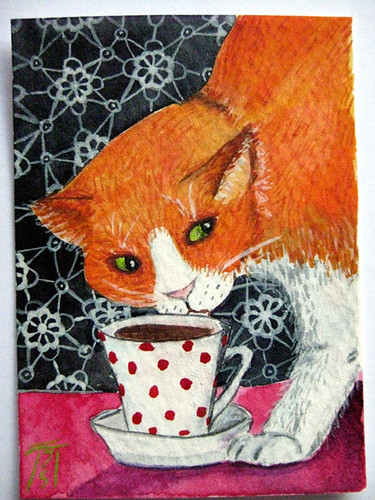 Cat who likes coffee | by aquarelle788