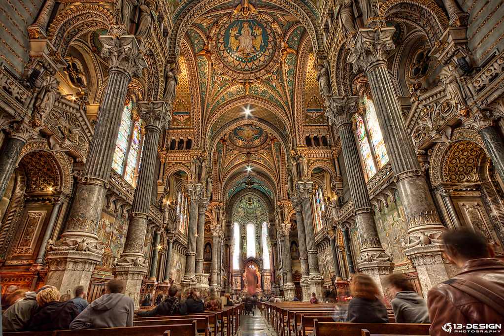 Notre dame de fourvi re int rieur hdr julien flickr for Interieur france