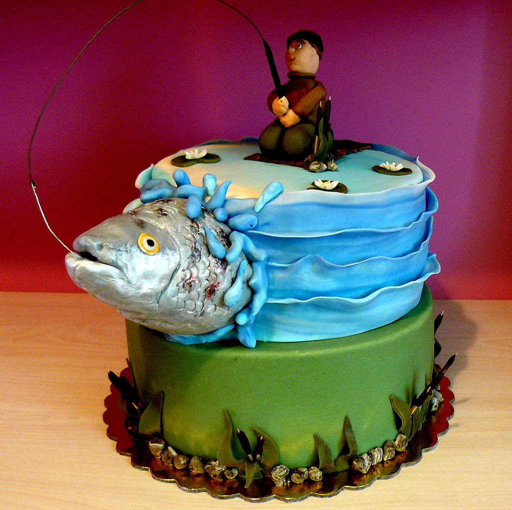 Gone fishing cake polina laskova flickr for Gone fishing cake