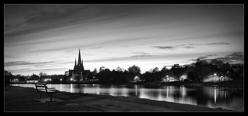 Stowe Pool Sunset in B&W | by Karl33to