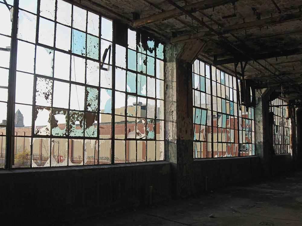 Factory windows the closed fisher body factory detroit for Window factory