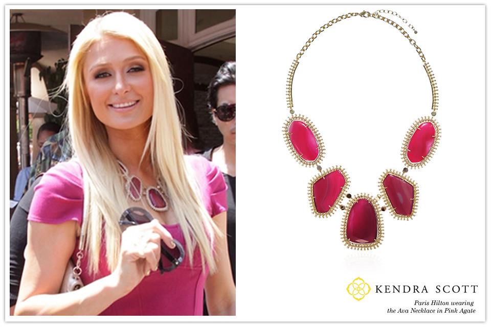 Celebrity Paris Hilton Wearing Kendra Scott Designer Fashi Flickr