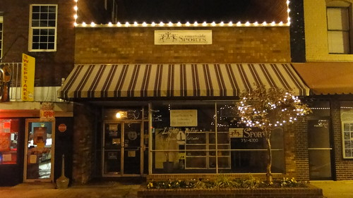 Window Shopping Under the Lights in Historic Downtown Mocksville | by daviecounty