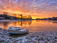 Sunrise at Glomma river