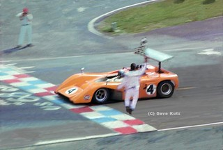 Bruce McLaren Takes the Checker | by DKutz