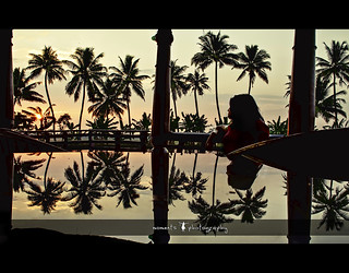 coconut trees, a woman and a reflecting dining table..(explored, frontpage) | by PNike (Prashanth Naik..back after ages)