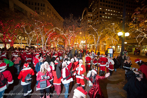 Santacon 2011: Santa Occupies Seattle | by Michael Holden