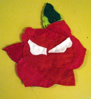 rose applique | by punkscrapper