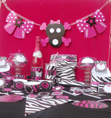 Diva Rock Star Animal Print Party Printables Package 6