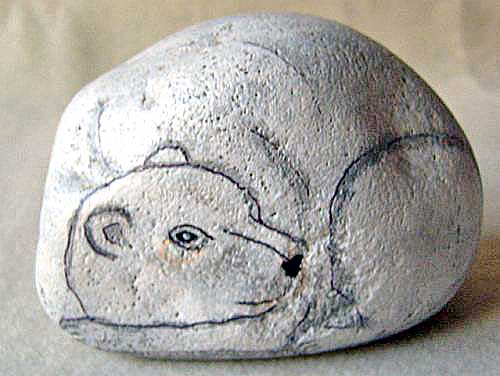 Painted Rock Polar Bear The Shape Of This Rock Easily Beca Flickr