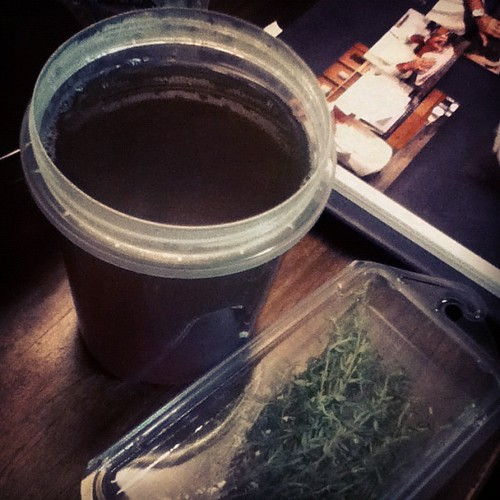 A start is made to nye dinner. Yum mushroom stock! | by Zutter Bug