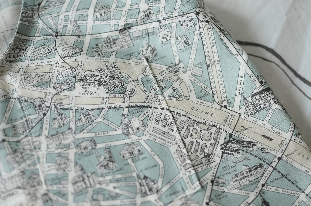 Paris Map Fabric Ireland Map - Paris map fabric