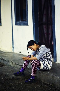 Girl in the Striped Stocking | by Sai Abishek