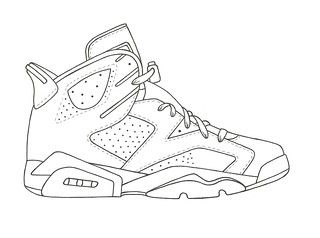 how to draw a jordan sign step by step