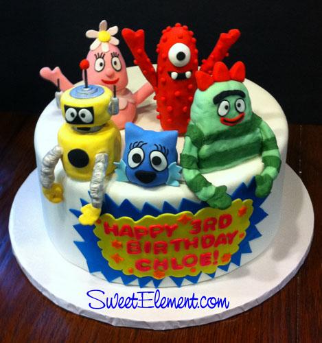 Yo Gabba Gabba Birthday Cake wwwSweetElementcom Jen Roberts