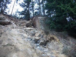 Rock the size of a small motor home above I-5 - south of Bellingham | by WSDOT