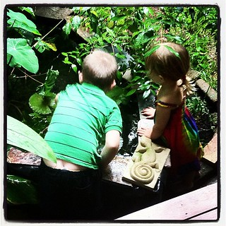 Alice & her 5yo cousin Rory lookin' in the guppy pond/mosquito trap | by tahinikill