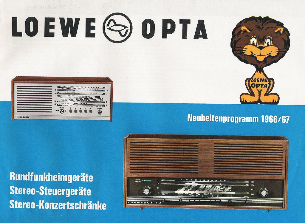 loewe opta radio stereo amplifiers and stereo sets dealer brochure w germany 1966 flickr. Black Bedroom Furniture Sets. Home Design Ideas