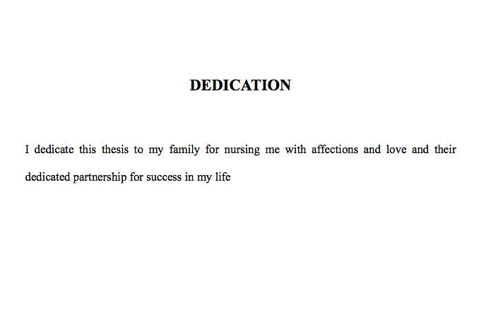 dedication quotes for parents in thesis