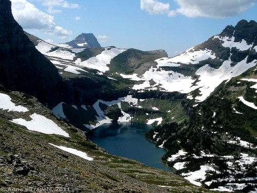Hidden Lake from the slopes of Reynolds Mountain, Glacier National Park, Montana