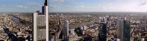 Frankfurt, Commerzbank and Main River | by tsaiproject
