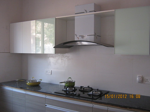 White Modular Kitchen