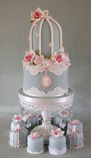Birdcage top tier and mini cakes. | by Sweet Tiers Cakes (Hester)