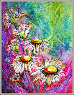 DAISIES..MIXED MEDIA | by Louise001