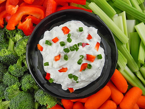 Blue Cheese Ranch Dip with Fresh Vegetables | by culinarycory