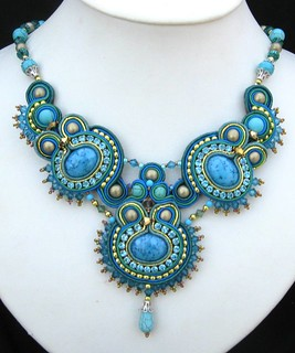 Blue Soutache necklace | by Cielo Design