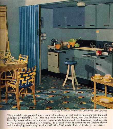 Blue And Yellow Kitchen: Blue And Yellow Modern Kitchen