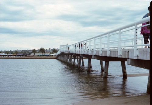 Footbridge from 90 mile beach to Lakes Entrance -  bronica 645 | by Rendrag1313