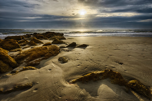 Golden rocks and sand | by Ed Rosack