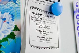 Little Printer, Birthdays this week | by BERG Studio