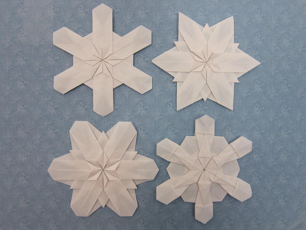 Origami Snowflakes Designer Kunio Suzuki Diagrams Easy O Flickr