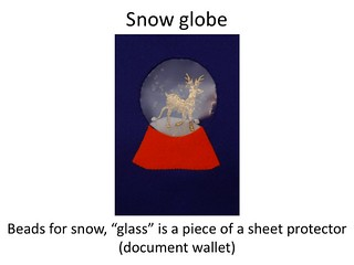 snow globe quiet book page | by jessica-one