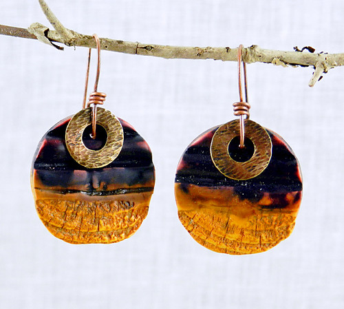 Dark of the Moon earrings - polymer clay | by Stories They Tell