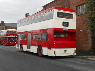 Rear shot of Manchester's iconic bus | by Gene Hunt