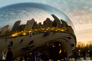 sunset on the bean | by Eva Blue